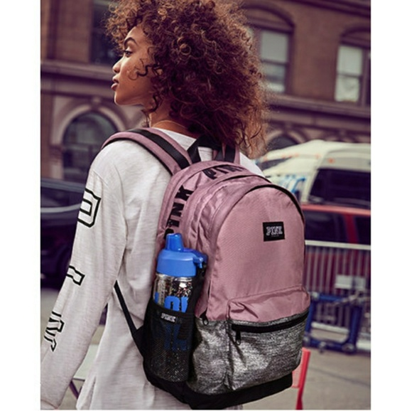 8a9d15e34a7 🆕PINK VS✴ CHALK ROSE MARL GRAY CAMPUS BACKPACK